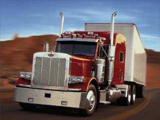 Trucks entering  highway